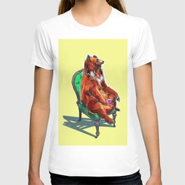 animals in chairs #20 The Bear at Tea T-shirt