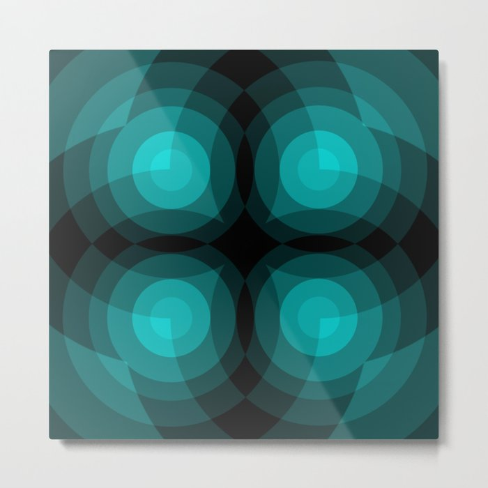 Blue Interference Metal Print