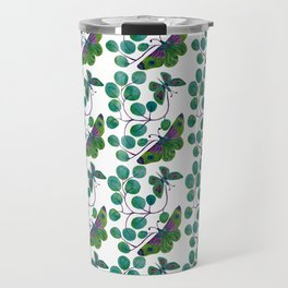Butterfly pattern with turquoise and green colors Travel Mug
