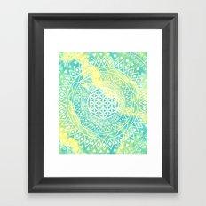 Flower Of Life (Batik 8) Framed Art Print