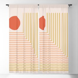 Lines & Circle 02 Blackout Curtain