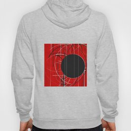 Black Dot Sticker Abstract Hoody