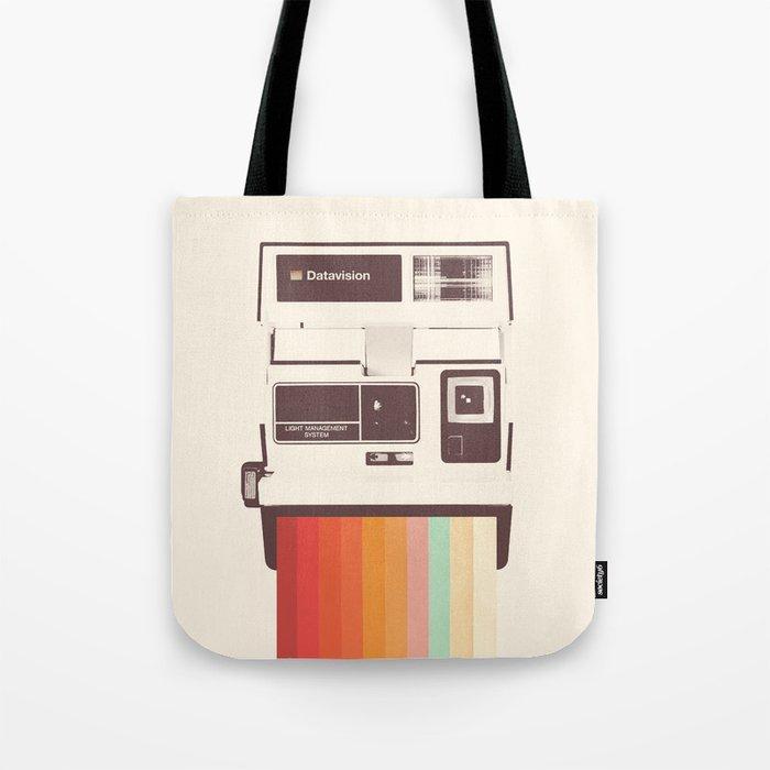 Instant Camera Rainbow Tote Bag