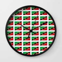 Flag of Saint Kitts and Nevis-Saint Christophe,Saint Kitts,Nevis,Kittian,Nevisian Wall Clock