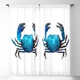 Cerulean blue Crustacean Blackout Curtain