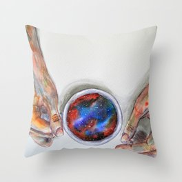 Taking some space Throw Pillow