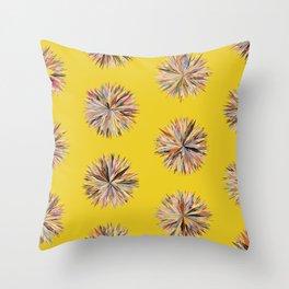 Sunset Poms on Yellow Field Throw Pillow