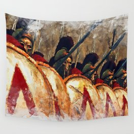 Spartan Army at War Wall Tapestry