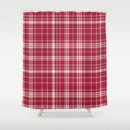Bama Crimson Tide College State Pattern Print University Of Alabama Varsity Alumni Gifts Plaid Shower Curtain