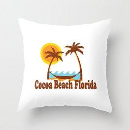 Cocoa Beach - Florida. Throw Pillow