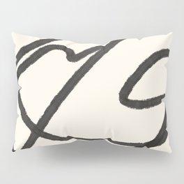 Thick Continuous Line Series 5 | Boho Home Decor, Modern Wall Art, Continuous Line Art, Contour Line Pillow Sham