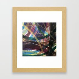 Purple Leap Framed Art Print