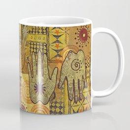 African Ethno Pattern Hand Symbol Coffee Mug