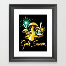 Gold Saucer Framed Art Print