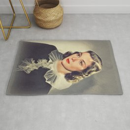 Rosalind Russell, Vintage Actress Rug