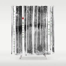 Mirror of nature Shower Curtain