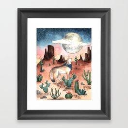Coyote Moon Framed Art Print