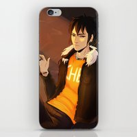 smoking iPhone & iPod Skins featuring SMOKING by nucleicacid