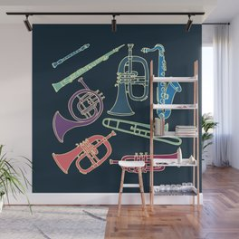 Wind instruments Wall Mural