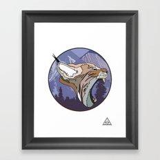 ⧓ Wild Rectangular Lynx ⧓ Framed Art Print