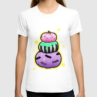 pastel goth T-shirts featuring Pastel Goth Pumpkin Stack by MagicCircle