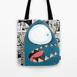 The Horror of it all BYRON Black and White Version Tote Bag