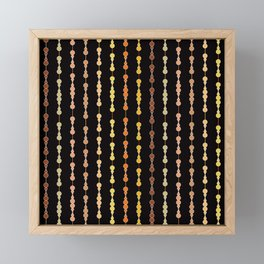 Multi-faceted decorative lines 14 Framed Mini Art Print