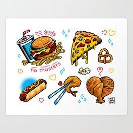 Fast Food Flash Sheet Art Print