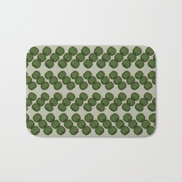 dots zigzag-green Bath Mat