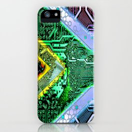 circuit board South Africa (Flag) iPhone Case