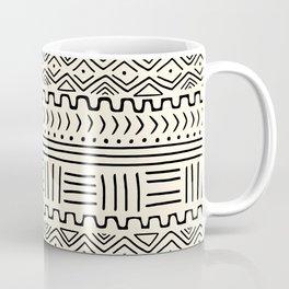 Mud Cloth on Cream Coffee Mug