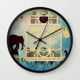 The Cage III - Call of the Wild Wall Clock