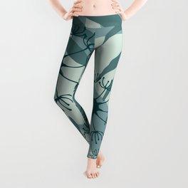 Dandelions leaves pattern pastel green #society6 Leggings