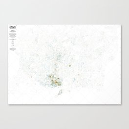 Visible city, living city Canvas Print