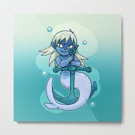 Sharp-toothed Mermaid Metal Print