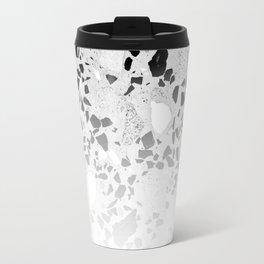 Concrete Terrazzo and Black and White Modern Monochrome Design Travel Mug