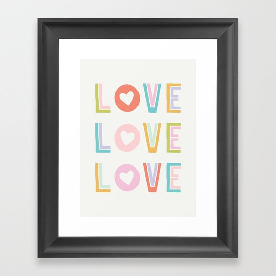 Love x3 Framed Art Print