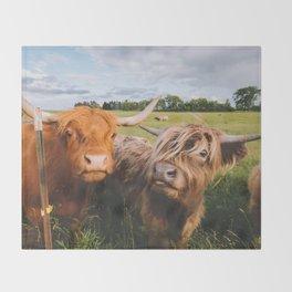 Highland Cows - Blep Throw Blanket