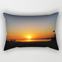 Californian Ocean sunset Rectangular Pillow
