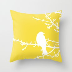 Yellow Bird - Modern Throw Pillow