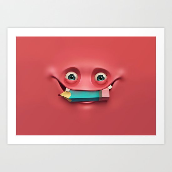 Happy face Art Print