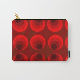 Retro Red Curls Carry-All Pouch