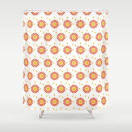 Orange Floral Shower Curtain. Modern orange yellow hand painted floral pattern Shower Curtain Orange Floral Curtains  Society6