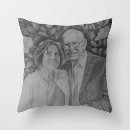 Wedding couple Throw Pillow