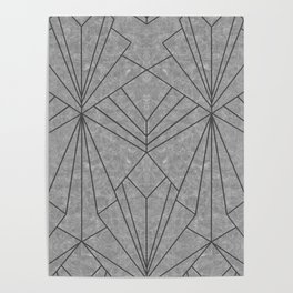 Art Deco in Black & Grey - Large Scale Poster