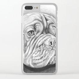 Dogue De Bordeaux Clear iPhone Case