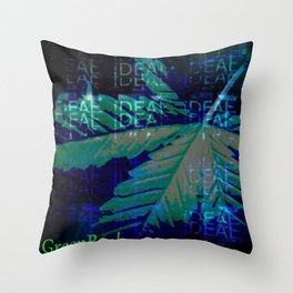 the GreenRush Collection - BlueDream Throw Pillow