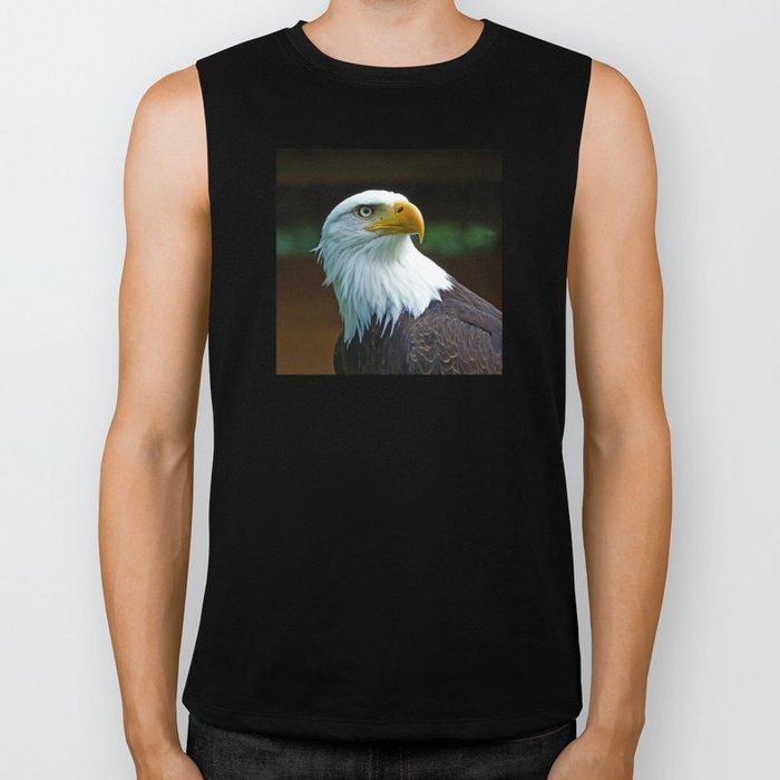 American Bald Eagle Head Biker Tank