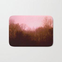 Pink Trees Bath Mat