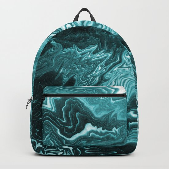 Yumiko - spilled ink painting abstract minimal ocean wave water sea monochromatic trendy hipster art Backpack